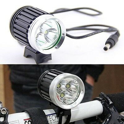KLY - 3X CREE XM-L T6 LED Front Bicycle Head Lamp Bike Light Headlamp Hea... New