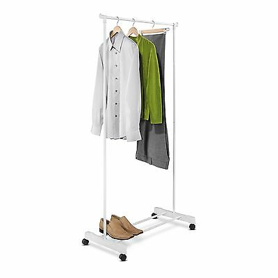 Honey-Can-Do GAR-01121 Portable Garment Rack with Casters Powder Coated F... New