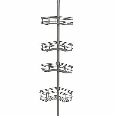 Jobar Zenna Home 2130NN Tension Corner Pole Caddy Satin Nickel New