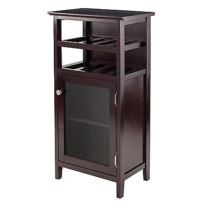 Winsome Wood 92119 Alta Wine Cabinet New
