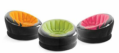 Intex Inflatable Empire Chair (Colors May Vary) 1 Pack New
