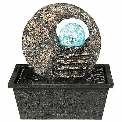Ore International K328 Indoor Table Fountain with LED Light 8-1/2-Inch New