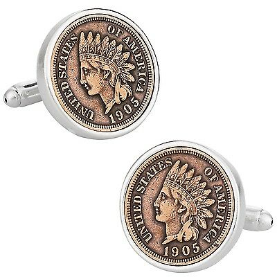 Indian Head Penny Coin Cufflinks New
