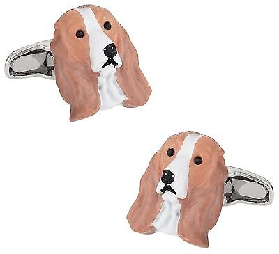 Cuff-Daddy Painted Cocker Spaniel Dog Cufflinks New