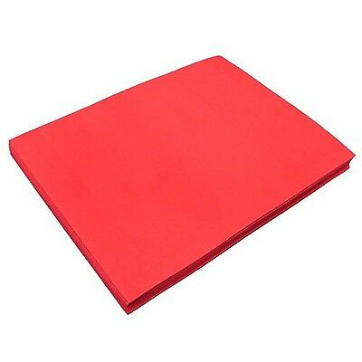 "Red Fun Foam Sheet 9"" X 12"" X 1/16"" Thick (12 Pcs/Pack) New"