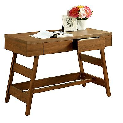 CorLiving WFP-920-D Folio Warm Oak Two Drawer Desk New