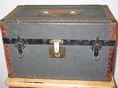 Antique Fred J. Leitshuh. Springfield, Ohio. Childs or Doll Travel Trunk Chest