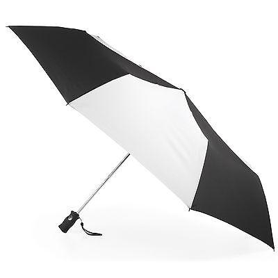 Totesport Golf Sized Automatic Compact Umbrella Black/White One Size New