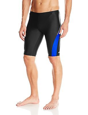 Speedo Men's Taper Splice Jammer Swimsuit Black/Sapphire 32 New