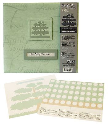 MCS MBI by Family Tree Scrapbook Album 12 by 12-Inch Sage New