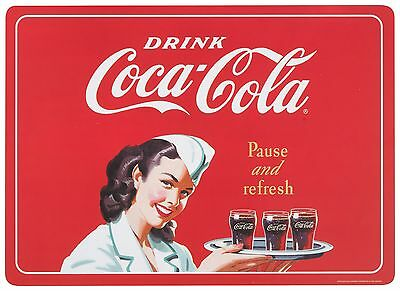 Now Designs Coca-Cola Cork-Backed Placemats Pause and Refresh Set of 4 New