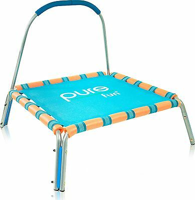 "Pure Fun Kids Jumper: 36"" Mini Trampoline with Handrail Youth Ages 3 to 7 New"