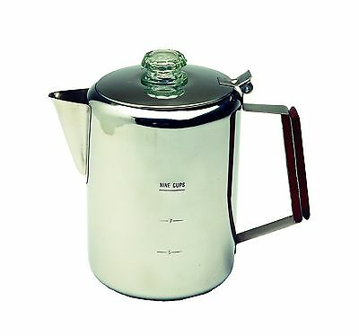 Texsport Stainless Steel 9 Cup Percolator New