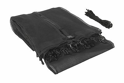 Upper Bounce UBNET-12-2-AST Trampoline Enclosure Safety Net with Sleeves ... New