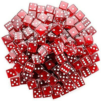 Brybelly GDIC-101 100 Count 19mm Dice (Red) Red New