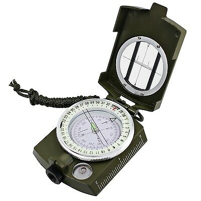 Multifunctional Waterproof Compass DLAND Military Metal Army Sighting Com... New