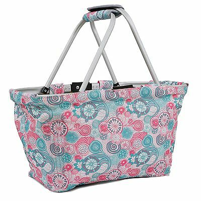 J World New York Pica Picnic Tote/Market Basket Blue Raspberry One Size New