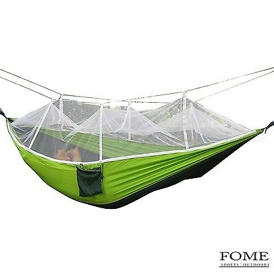 Mosquito Net Hammock FOME SPORTS|OUTDOORS Portable Fabric Hammocks Ultral... New