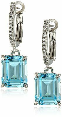 Miss Crislu Cubic Zirconia Sterling Silver Drop Earrings Clear New