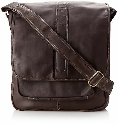 David King & Co. Laptop Messenger with Front Gusset Pocket Cafe One Size New