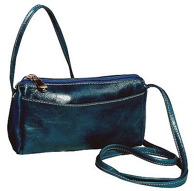 David King Florentine Top Zip Mini Bag 3501 Blue One Size New