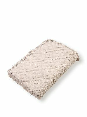 Stylemaster Diamond Tufted Chenille Bedspread Queen Ivory New