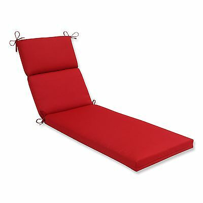 Pillow Perfect Indoor/Outdoor Red Solid Chaise Lounge Cushion New