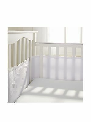BreathableBaby Deluxe Breathable Mesh Crib Liner White New