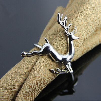 Sterling Silver Deer Napkin Ring Holder Wedding Antique Set Party Table Decor