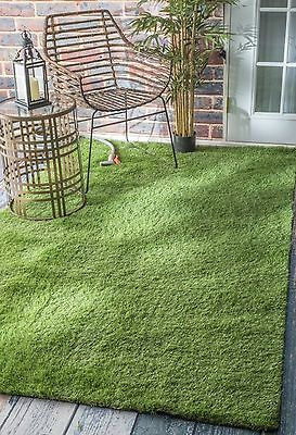 nuLOOM 200MCTU01A-508 Artificial Grass Outdoor Lawn Turf Green Patio Rug ... New