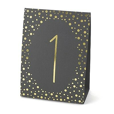 Hortense B. Hewitt Wedding Accessories Gold Polka Dot Table Tents Numbers... New