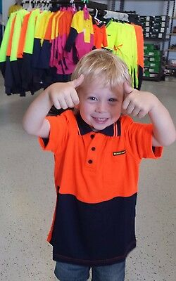Kids Hi Vis Polo Shirt Lighweight