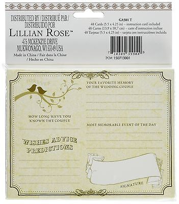 Lillian Rose Wishes Cards 5.5-Inch by 4.25-Inch Tan Set of 48 New