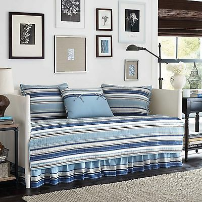 Stone Cottage Fresno 5-Piece Daybed Cover Set Blue New