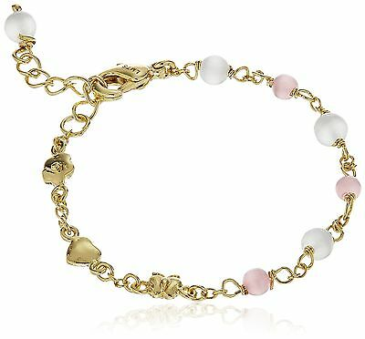 "Little Miss Twin Stars ""Cat-Eyed Bead"" 14k Gold-Plated Lavender Beads and... New"