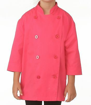Chef Works KC001-BER-M Kids Chef Coat Berry New