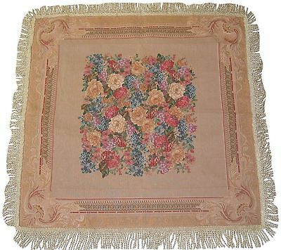 DaDa Bedding TC-3089 Breath of Spring Woven Square Tablecloth 60 by 60-In... New
