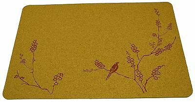 Cork Nature 3mm Set of 2 Korko 490409 Cherry Blossom Red Placemat New