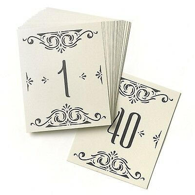Hortense B. Hewitt Wedding Accessories Glamour Table Cards Numbers 1 to 4... New