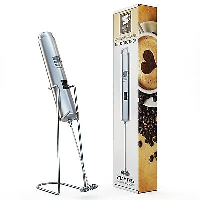 Inskin CoffeeMania [Stainless Steel] USB Rechargeable HandHeld [Dual Spee... New