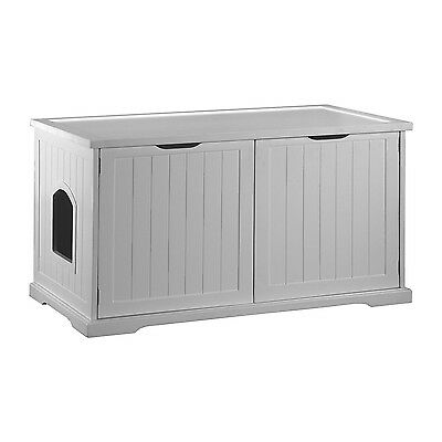 Merry Products White Cat Washroom Bench New