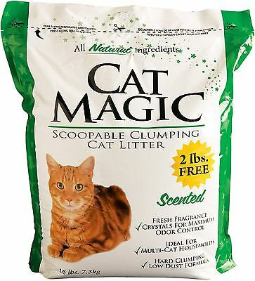 Cat Magic Scented Clumping Clay Cat Litter 16-Pound New