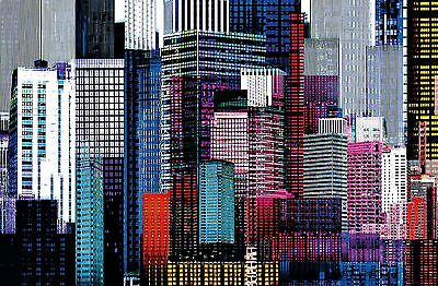 Ideal Dcor DM641 Colorful Skyscrapers 45-Inch-by-69-Inch mural New