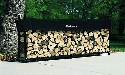 Woodhaven 10' Firewood Rack and Seasoning Cover New