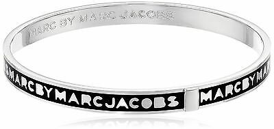Marc by Marc Jacobs Black Skinny Logo Bangle Bracelet New