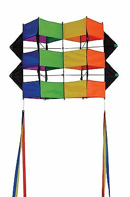 In the Breeze Rainbow Double Winged Box Kite New