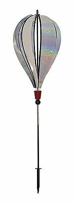 In the Breeze Silver Sparkle 6 Panel Hot Air Balloon Ground Spinner New