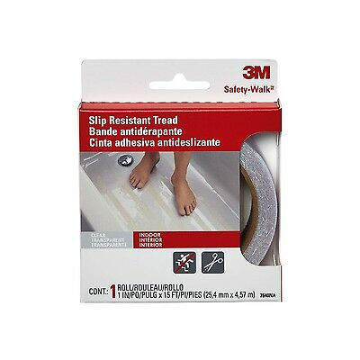 3M Safety-WalkTub and Shower Tread 1-Inchx180-Inch Clear New