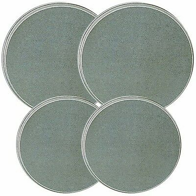 Reston Lloyd Electric Stove Burner Covers Set of 4 Stainless Steel Look New