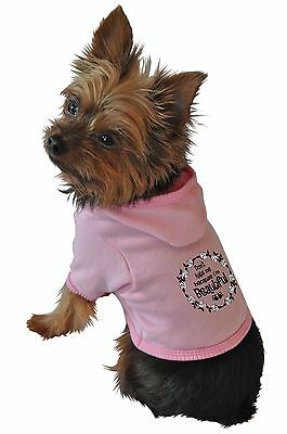 Ruff Ruff and Meow Small Dog Hoodie Dont Hate Me Because Im Beautiful Pink New